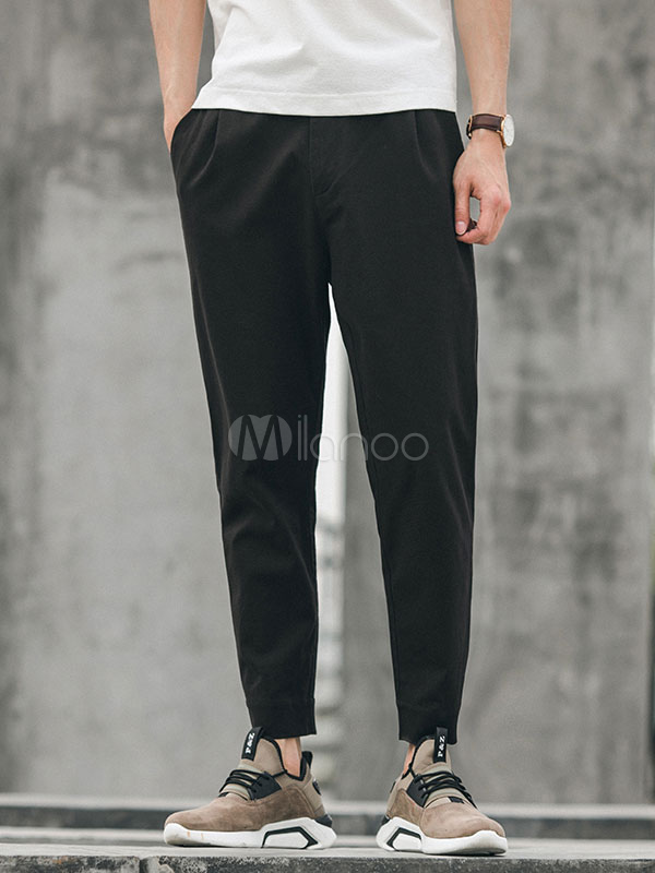 Men Sweat Pant Harem Style Cotton Pant Ankle Band Casual Pant