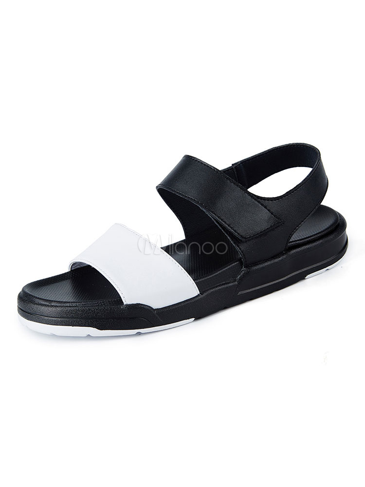Buy White Flat Sandals Men Shoes Cowhide Open Toe Slingbacks Sandal Shoes for $46.74 in Milanoo store
