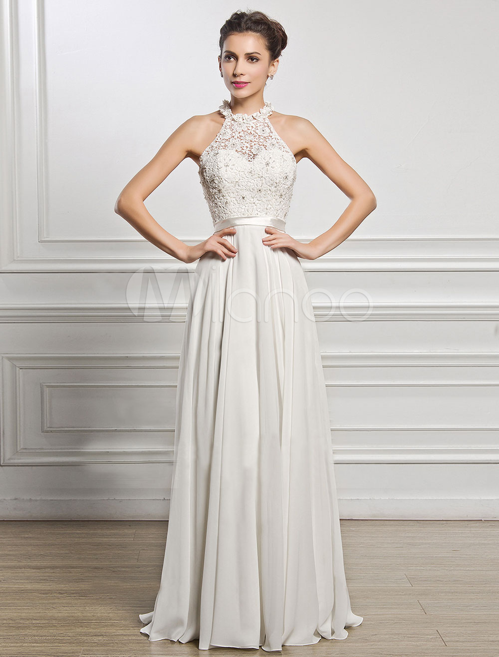 Vestidos elegantes en color blanco