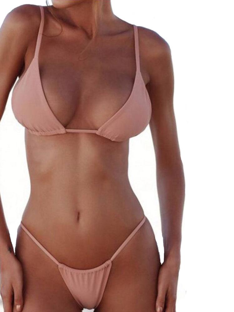 best cheap 0e703 45e82 Sexy Bikini Bademode Straps Triangle Bikini Badeanzug Zweiteiler Badeanzug