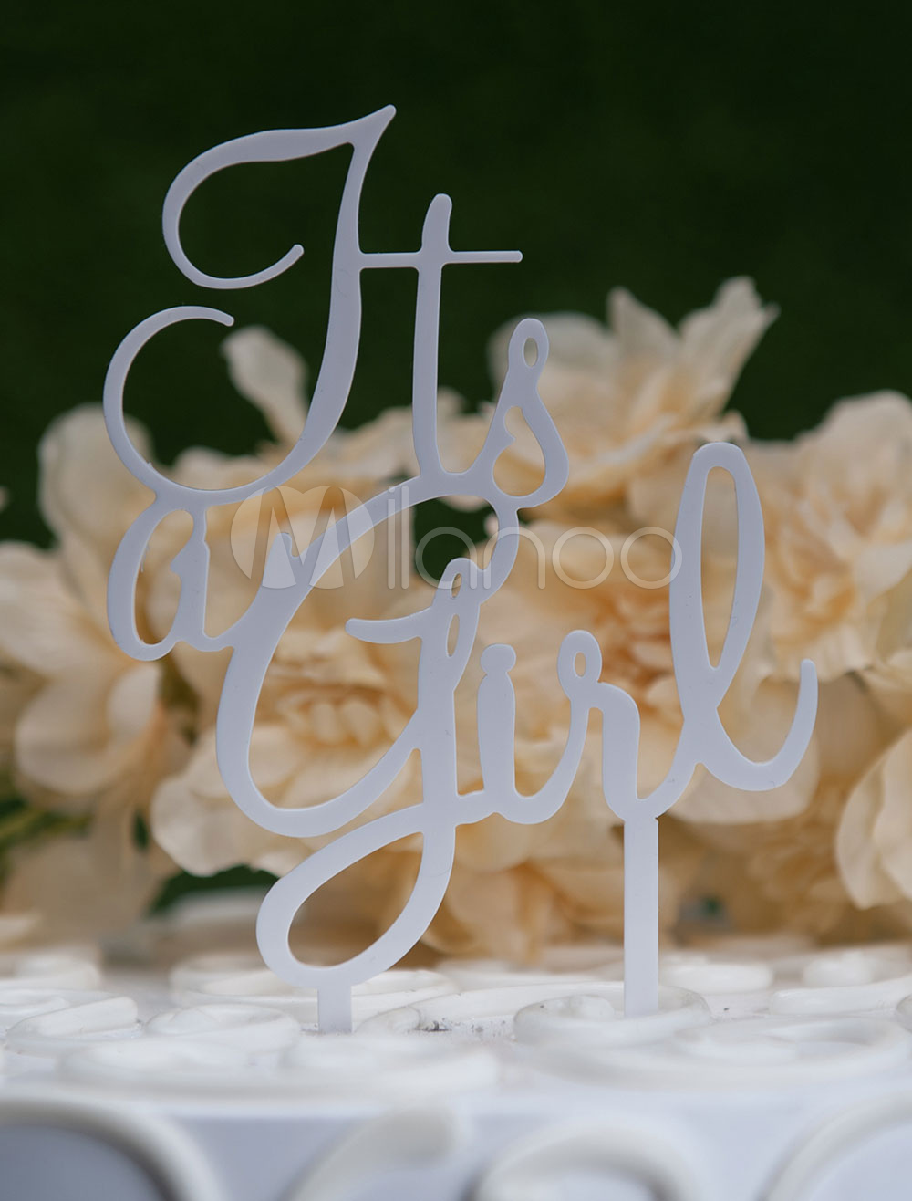 White Cake Toppers Letters Wedding Decorations