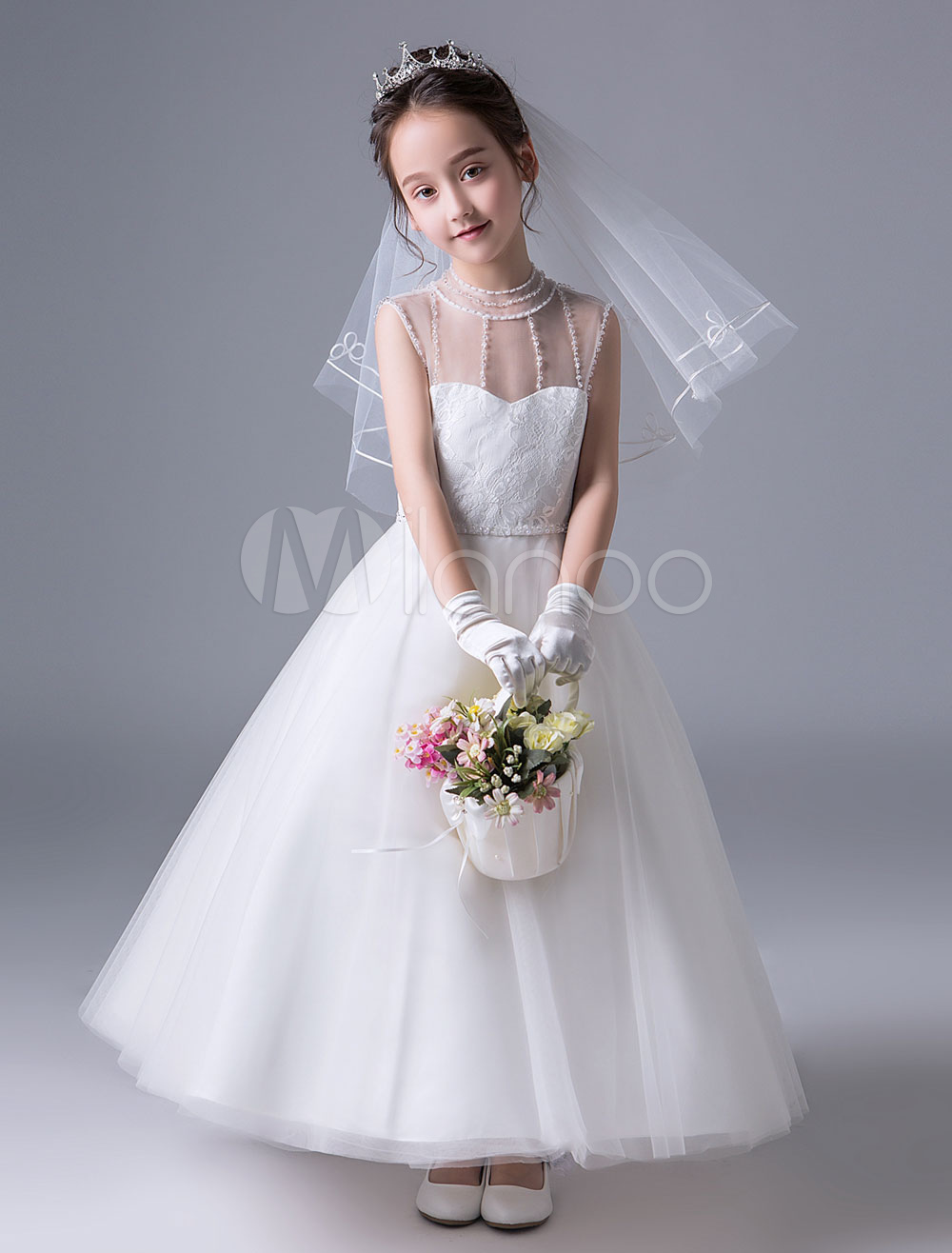 Open Back Flower Girl Dress