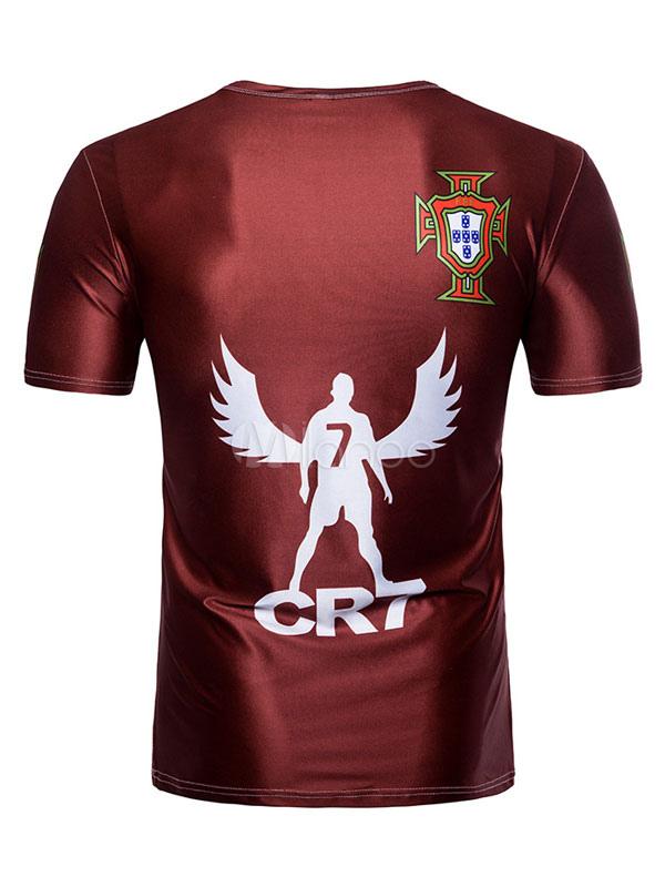 hommes t shirt casual coupe du monde 2018 portugal. Black Bedroom Furniture Sets. Home Design Ideas