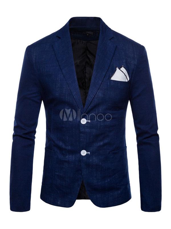 Men Blazer Casual Front Button Suit Jacket Regular Fit Spring Blazer