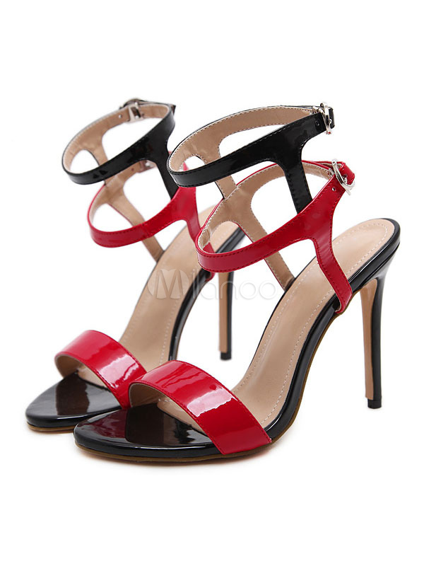 a510ae247 High Heel Sandals Women Shoes Open Toe Buckle Detail Ankle Strap Sandal  Shoes-No.