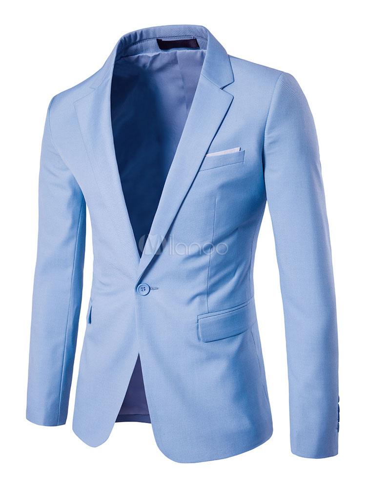 Casual Men Blazer Notch Collar Two Tone Spring Jacket Front Button Blazer Jacket