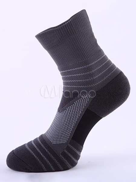 Men Crew Socks Stripe Breathable Casual Sock