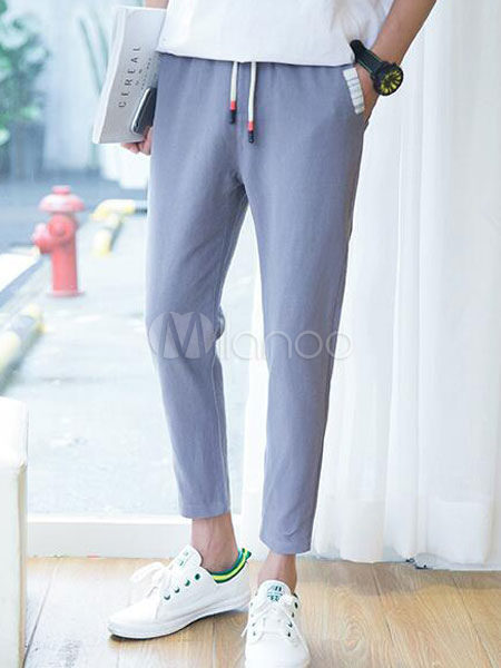 Suit Trousers Classic Pants,Urban Clothing,Steampunk,Linen Clothing Tapered Linen Pants Casual Trousers Minimalist Pants Straight Pants