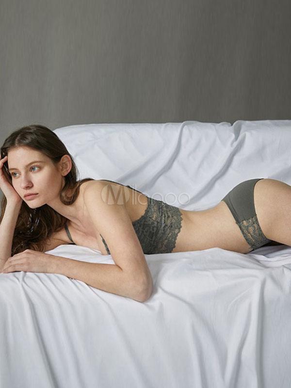 89905f6578 Sujetador de encaje y bragas conjunto Bralette de dos piezas lencería para  mujeres-No.
