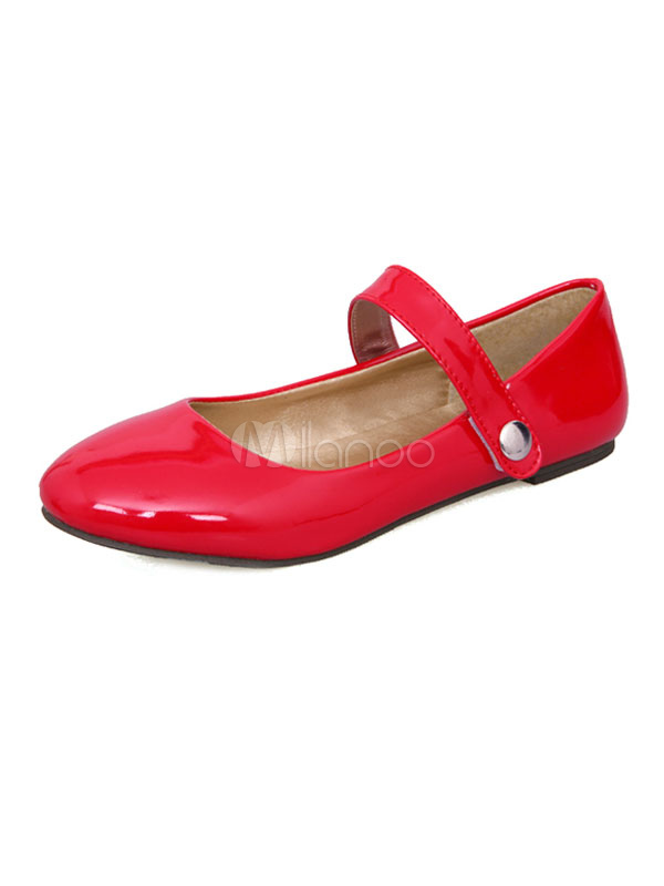 Women Ballet Flats Round Toe Mary Jane Shoes