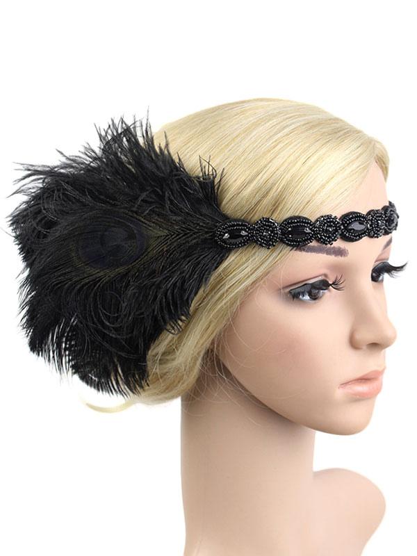 1920er Jahre Kopfschmuck Feder Flapper Stirnband Große Gatsby Kopfschmuck