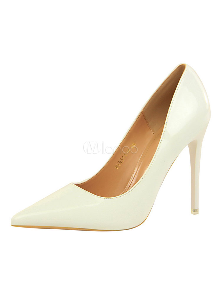Buy Women Dress Shoes High Heels Pointed Toe Slip On Pumps for $39.59 in Milanoo store