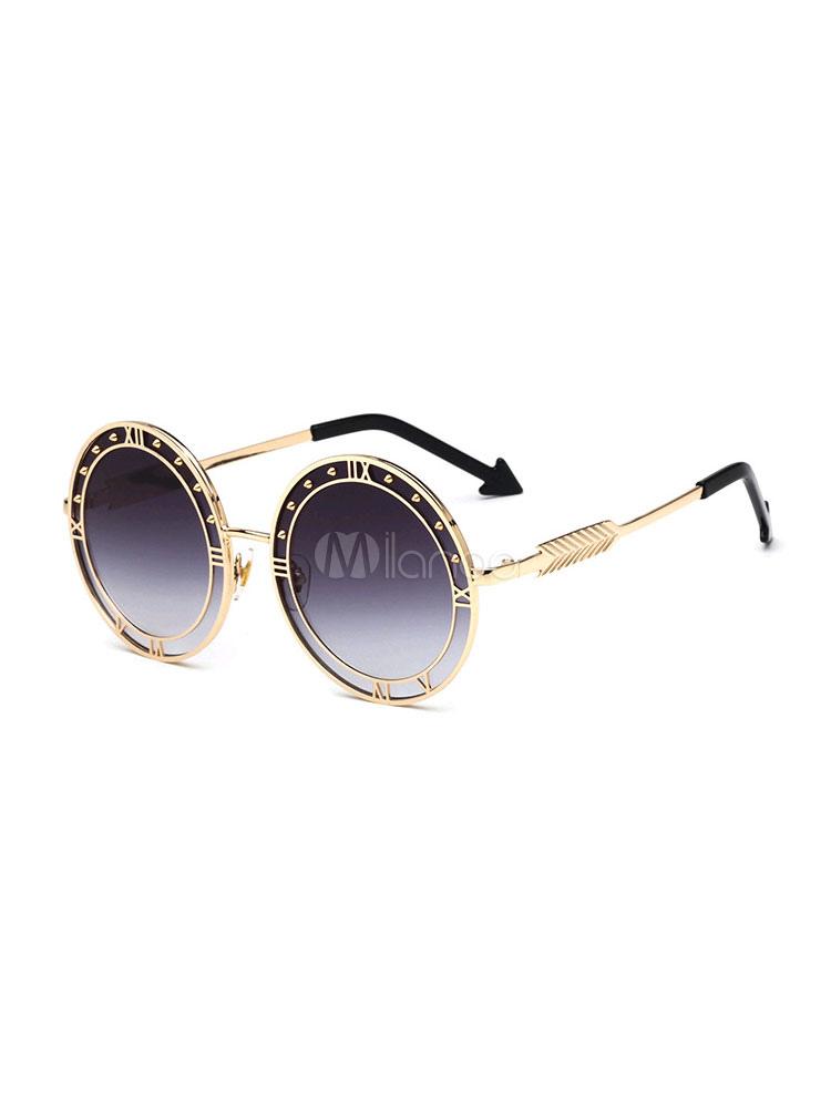 Women Eyewear Round Shape Full Rim Sunglasses