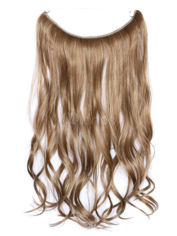 Women Hair Extensions Tousled Long Curly Synthetic Hairs