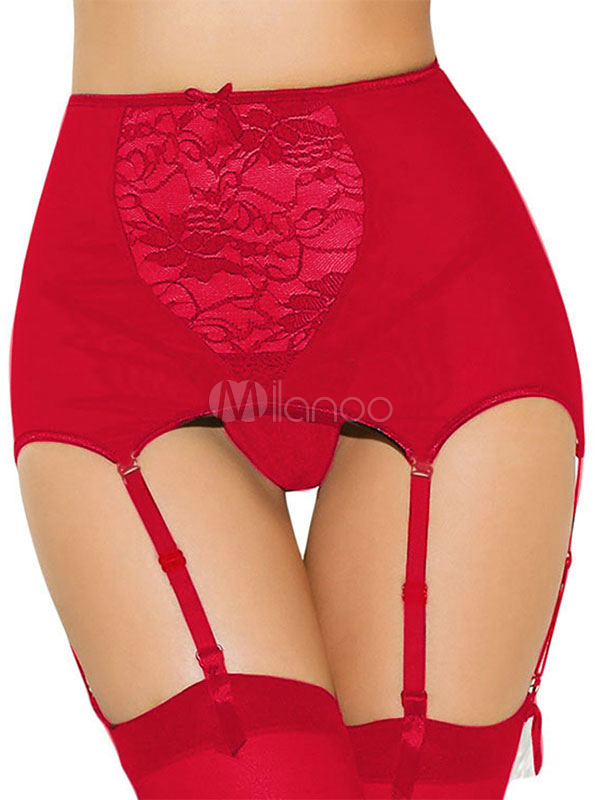 f8d72aa421d Women Garter Belt Lace Semi Sheer Sexy Two Piece Lingerie
