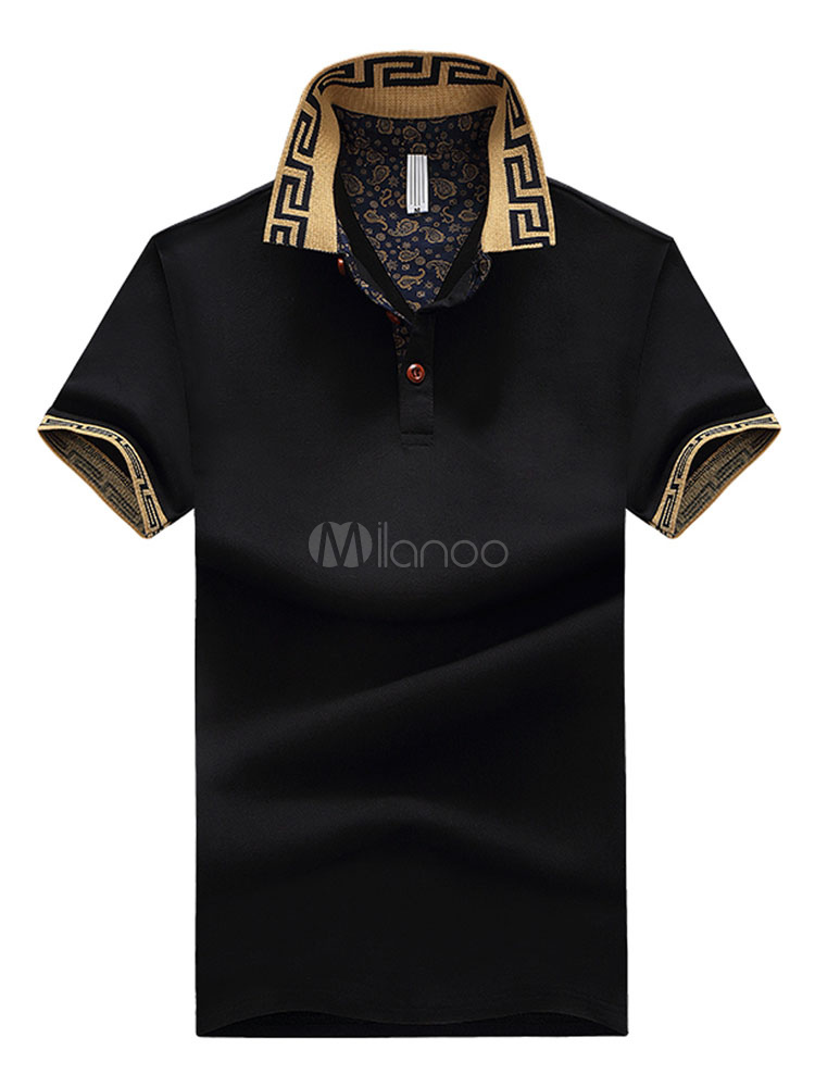 Men Polo Shirt Embroidery Cotton Plus Size Top Short Sleeve Casual T Shirt