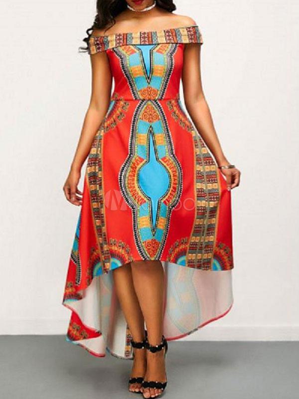 Dashiki high low dress.