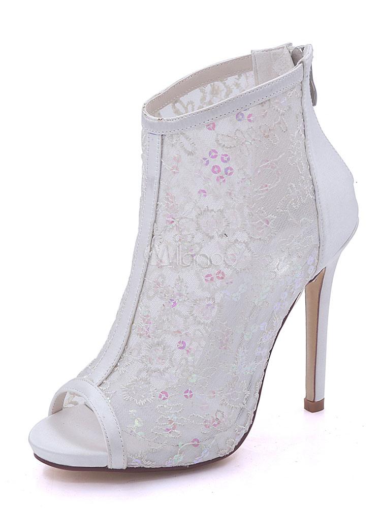 Scarpe da sposa donna Scarpe stringate in raso con plateau e scarpe rosse  con tacco alto ... 54e5d05fdfa