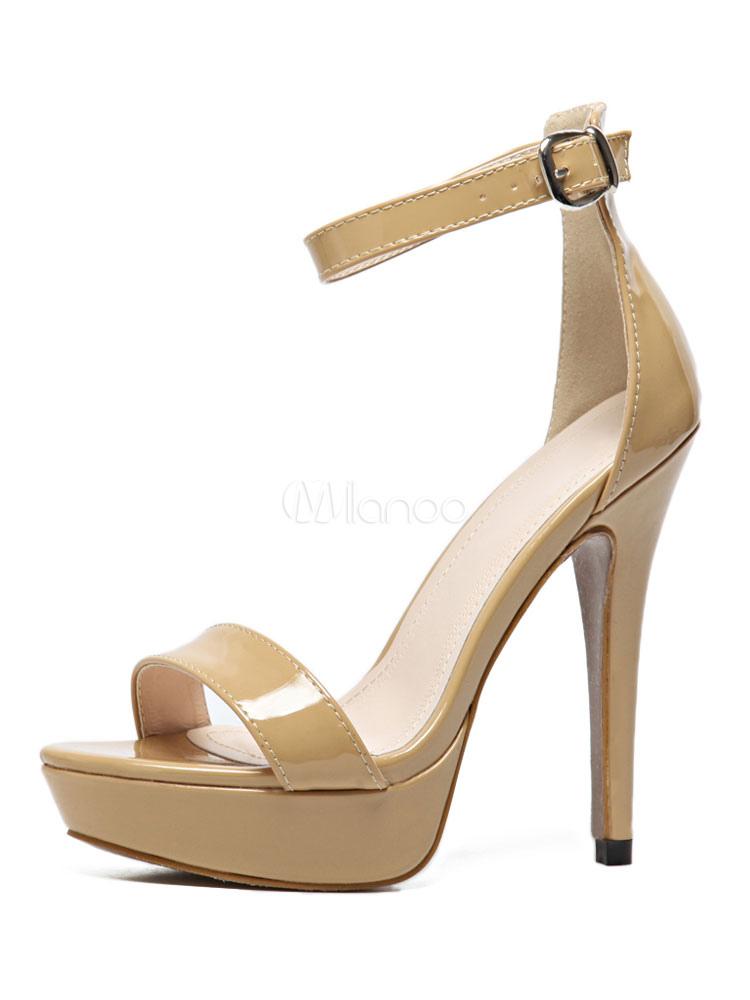 Cheville Chaussures Deux Sandales Kaki 2019 Haut Femmes Ouvert Au Bout Sangle Parties Talon dBWoeCQrx