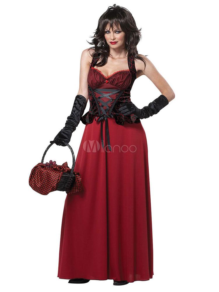 Disfraces Para Halloween De Caperucita Roja.Disfraz De Caperucita Roja Para Halloween Disfraz De Halloween Para Mujer Dark Blue 3 Piezas