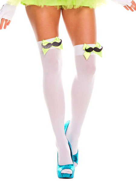 d7989f23e ... Knee High Socks Saloon Girl Stockings Bows Women Halloween Costume  Accessories-No.2 ...