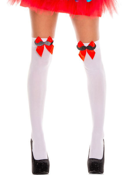 bcf7ed6cc Knee High Socks Saloon Girl Stockings Bows Women Halloween Costume  Accessories-No.1 ...