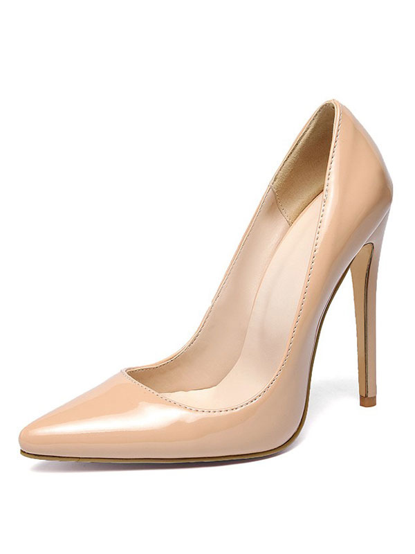 Nude High Heels Plus Size Pointed Toe