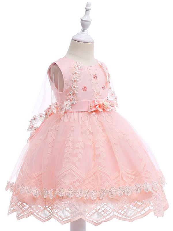 Vestidos de niña de flores de color rosa suave Vestido de fiesta de ...