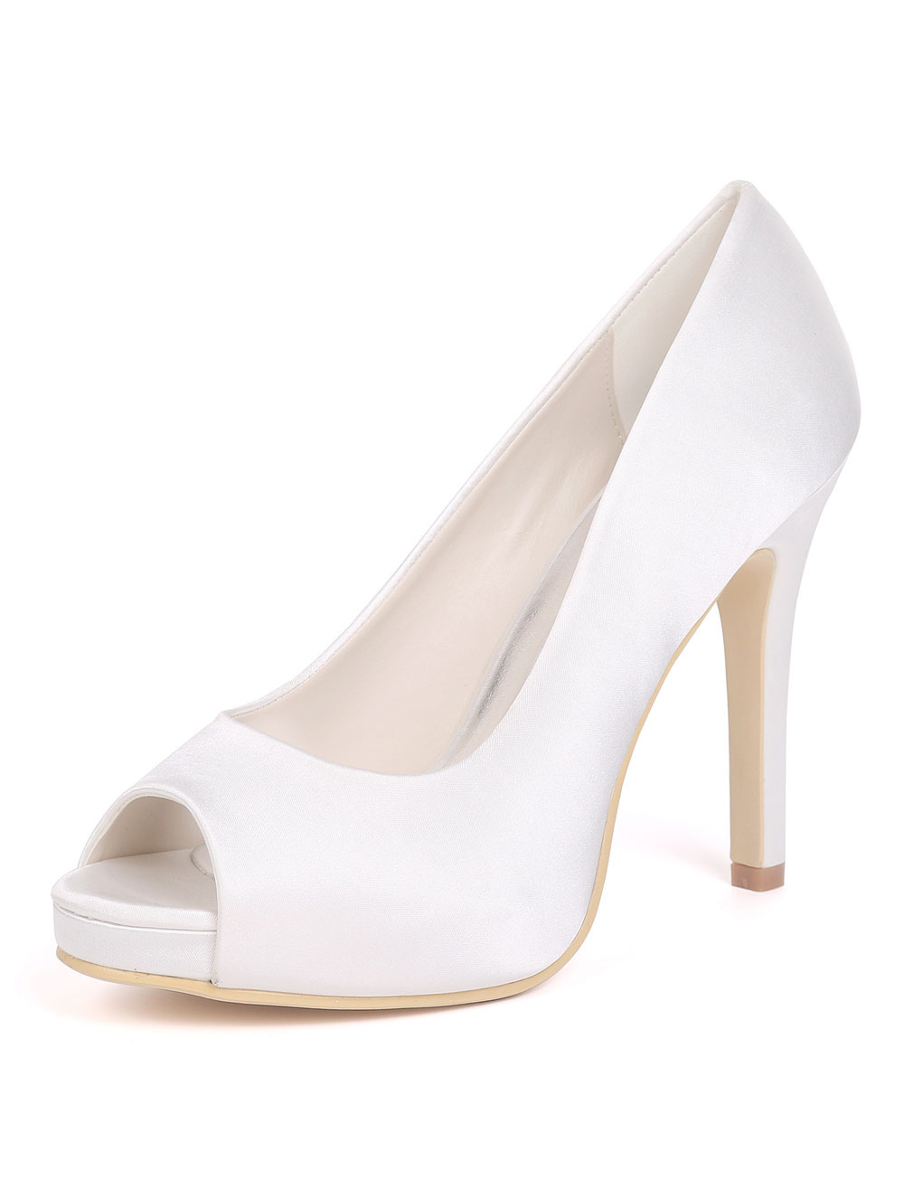 Satin Hochzeit Schuhe Lila Peep Toe Hochzeit Gast Schuhe Frauen High Heels