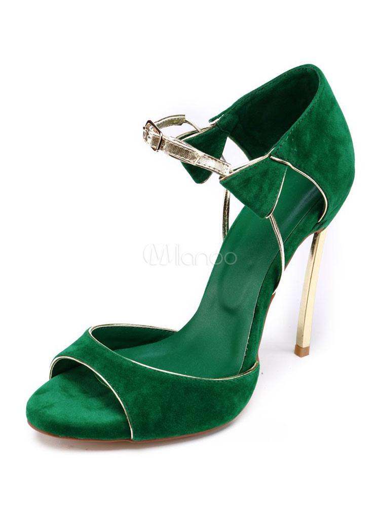 Para Sandalias Hebilla De Tacón Mujer Alto Detalle Zapatos Sandalia 2019 Verde Pubta Abierta rdWxBoeQC