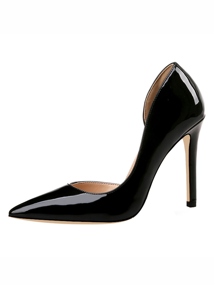 Buy Black High Heels Women Dress Shoes Pointed Toe Slip On Pumps for $42.49 in Milanoo store