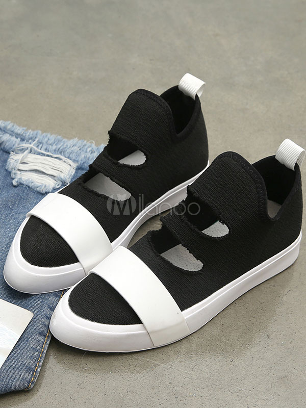 Skate Sneakers De Chaussures Pointu Femmes Blanches Bout Cut Out 1JcTlF3uK