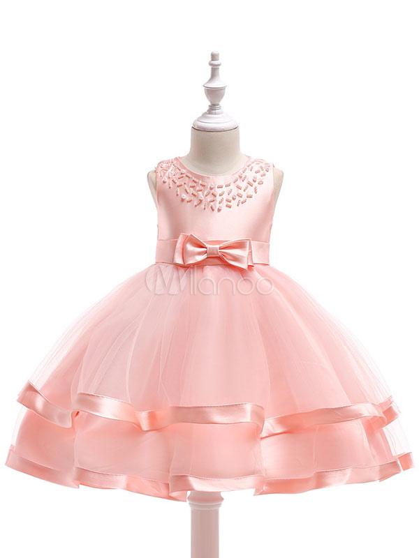 Vestidos de niña de las flores Vestido sin mangas para niñas borgoña ...