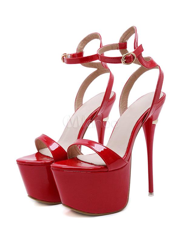2f6b1228376 ... Black Sexy Shoes Women High Heel Sandals Platform Open Toe Ankle Strap  Stiletto Heel Sexy Sandals