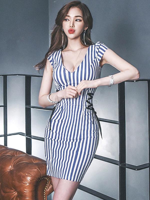 enges kleid mit v ausschnitt factory store 3ef9c 7897f