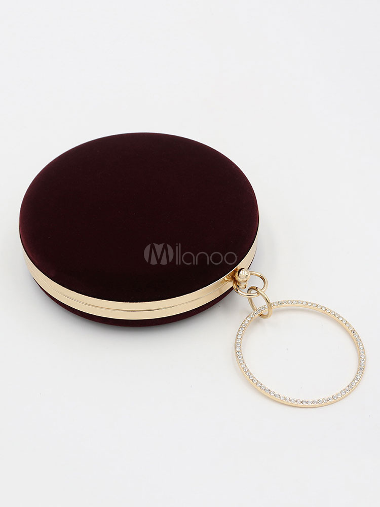 Buy Evening Clutch Bags Round Shape Women Formal Party Wedding Bridal Handbags for $35.09 in Milanoo store