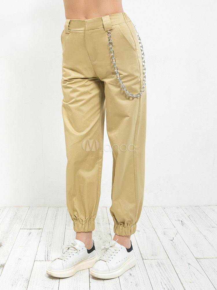 Jogger Para Mujer Cintura Casuales De Pantalones Elástica Cadenas UqVSzGMLp