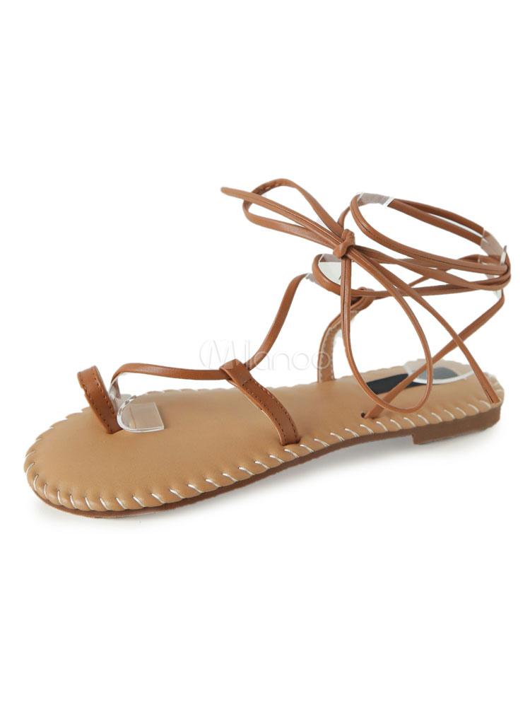 Sandalias Negro de Gladiador 2018 Mujer de Playa Sandalia Zapatos con Cordón Sandalia Zapatos DSxMZ