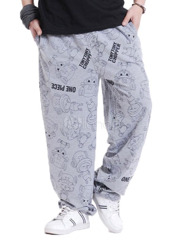 1a3b03d6f2d ... Cotton Sweat Pant Plus Size Letter Print Loose Leg Men Track Pant-No.4  ...