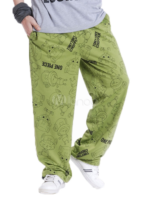 2b0de7951f4 ... Cotton Sweat Pant Plus Size Letter Print Loose Leg Men Track Pant-No.2  ...
