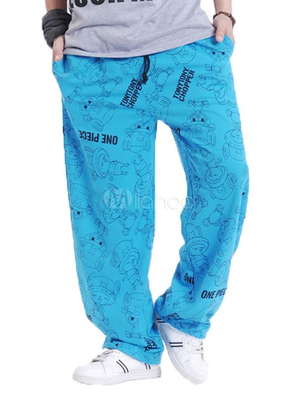 179d8dee3d7 Cotton Sweat Pant Plus Size Letter Print Loose Leg Men Track Pant-No.1 ...