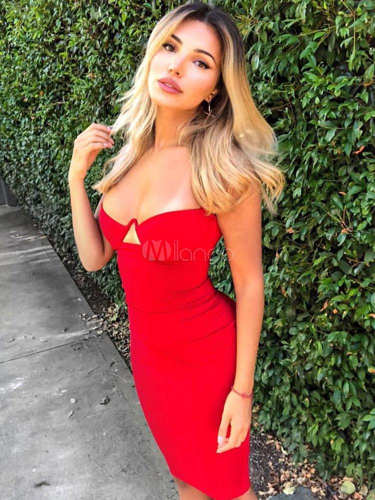 19c033fb6 Vestido rojo corte lapiz - Vestidos no caros 2019