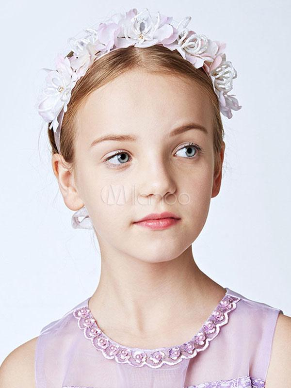 ... Tocados de niña de las flores Cinta de Lila Diadema Accesorios para el  cabello niñas- ... dbd99176ed1