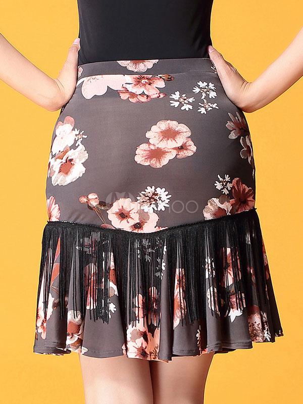 ... Falda de traje de baile de salón Borlas de sirena Estampado floral  Mujeres Bañador de color ... 1e8f9d05e00