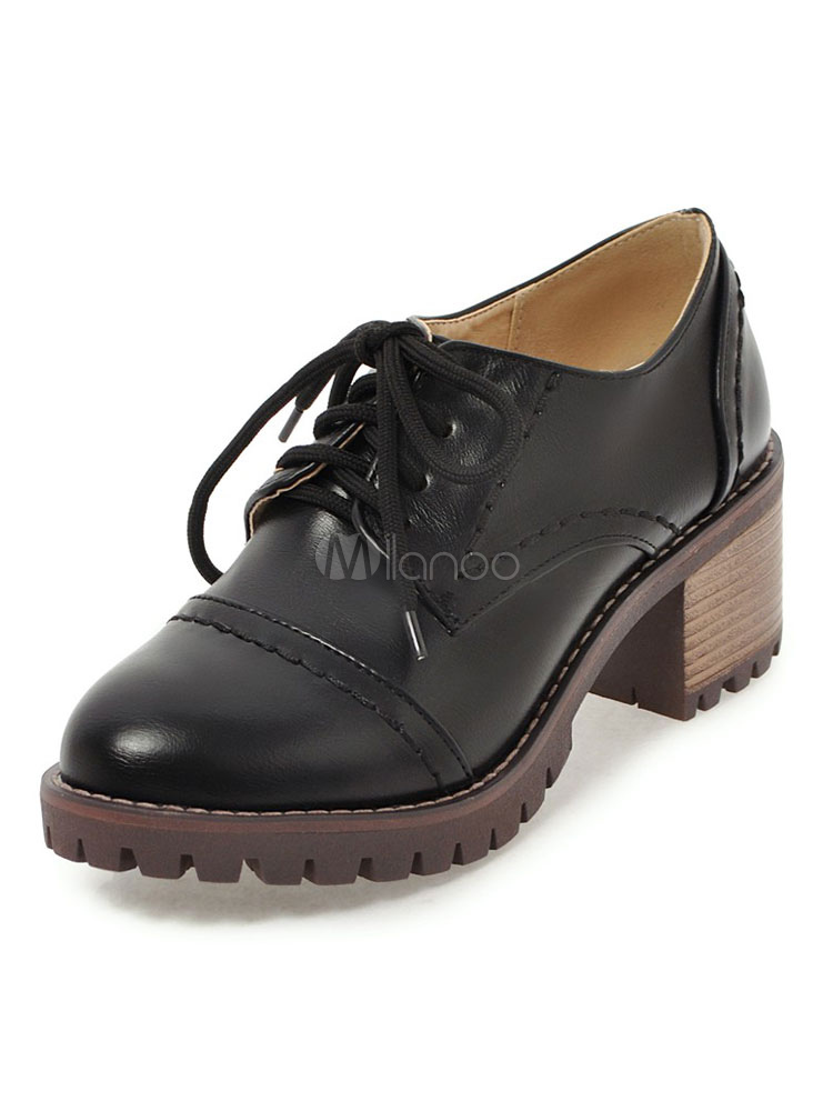 chunky lace up shoes womens
