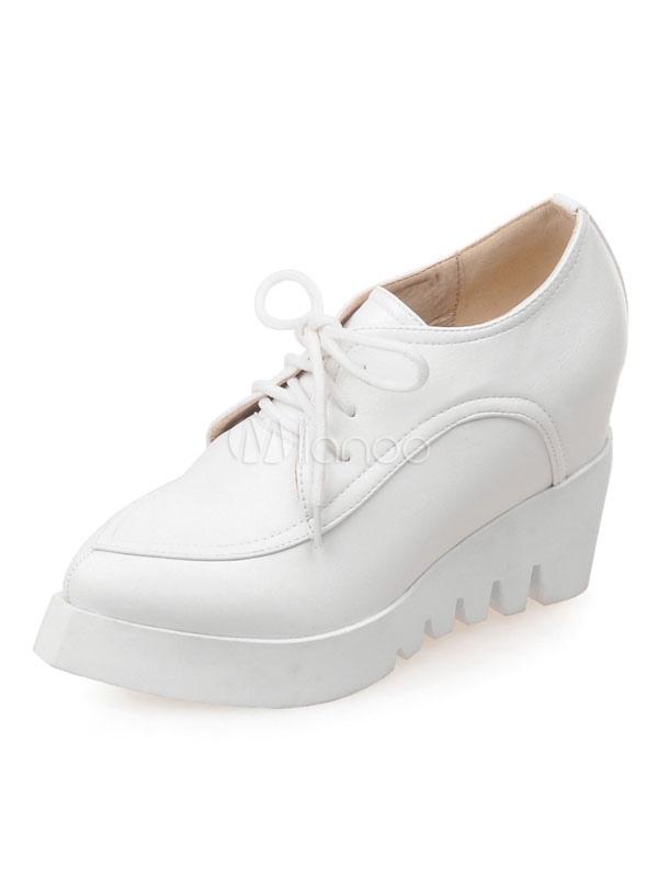 white platform oxford shoes