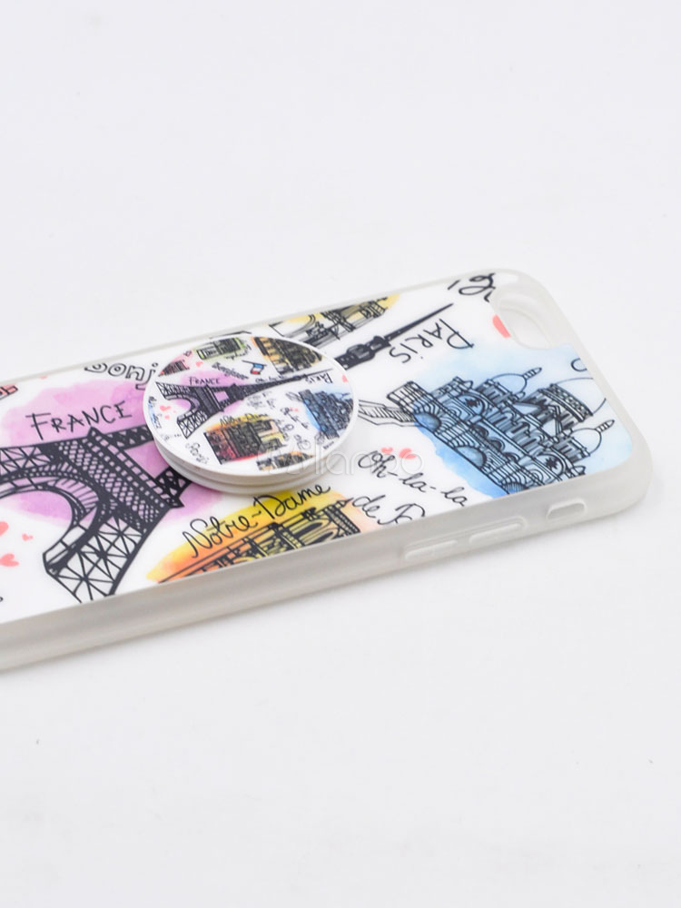 9f5d3e84c8 ... White Phone Case Eiffel Tower Print Puncture Resistant Anti Slip IPhone  X IPhone 8 Plus Protective