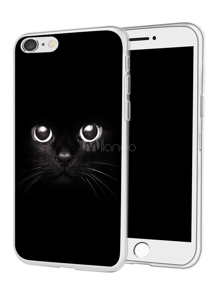 best sneakers 1e8ed 42902 Black IPhone X Phone Case Cat Print Dust Proof Puncture Resistant TPU  Protective Bumper For IPhone 8 IPhone 8 Plus