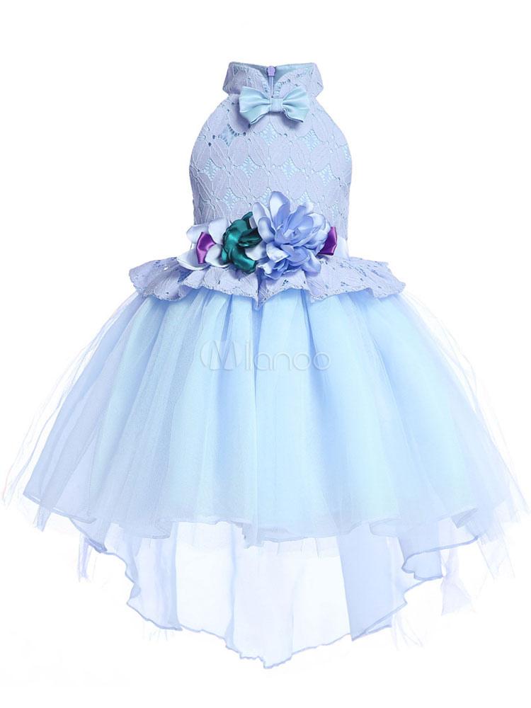 online store f7cfc ef893 Abito Da Damigella Bambina 2019 Vestito Da Spettacolo Di Bambine Con  Applicazioni Floreali