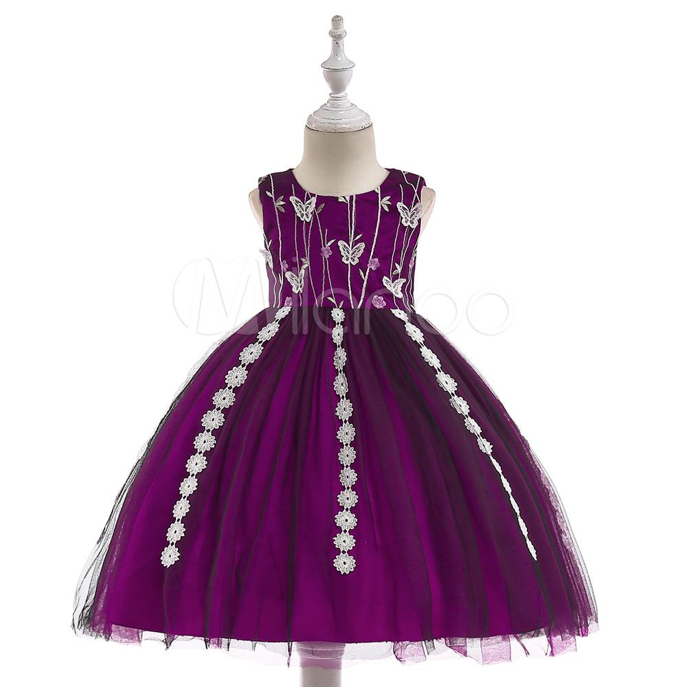 c8837317e08 Flower Girl Dresses Burgundy Lace Applique Kids Tutu Dress Bows Girls Party  Dress-No.